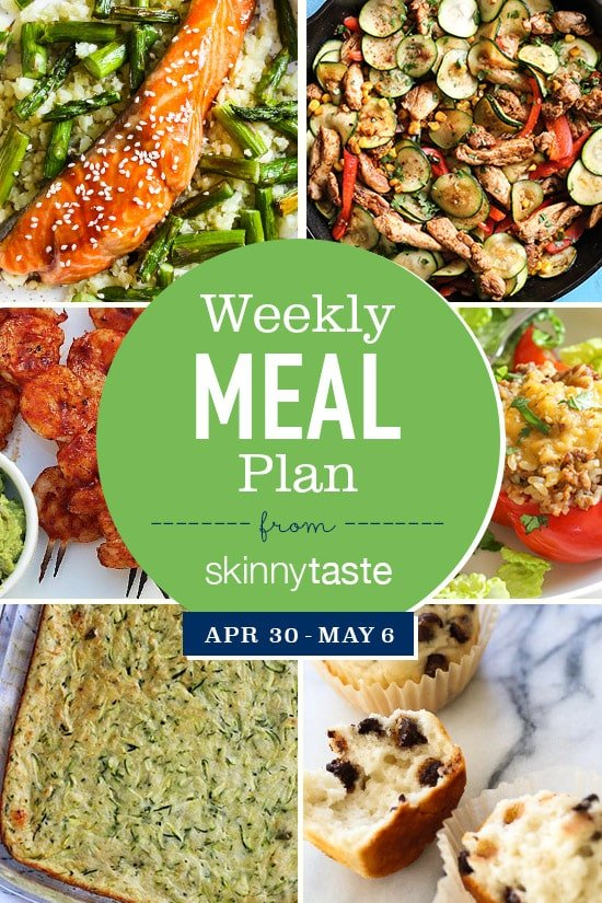 Skinnytaste Meal Plan (April 30-May 6)
