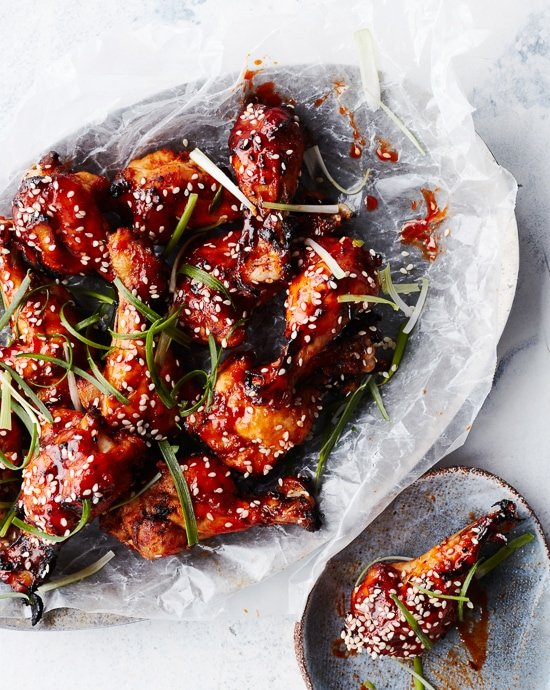Glazed Korean BBQ Chicken Wings