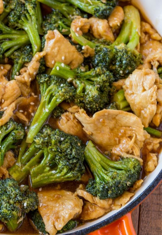Chicken and Broccoli Stir-Fry made with lean white meat and lots of broccoli in a ginger and garlic stir-fry sauce that's an easy and quick weeknight meal or the perfect meal prep recipe for easy lunches all week long.