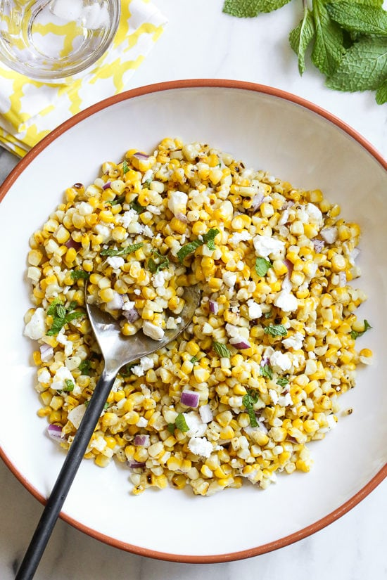 Grilled Corn Salad with Feta
