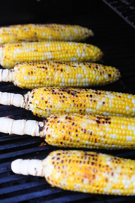 This charred Grilled Corn and Feta Salad is an easy 5-ingredient summer side dish. It goes perfect with anything you're grilling!