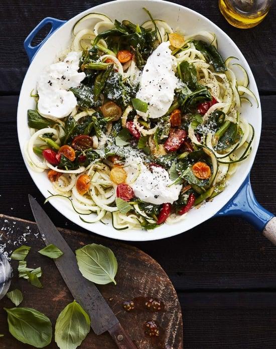 Summer Veggie Zucchini Noodles with Burrata