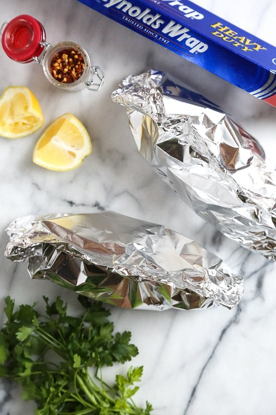 Shrimp Scampi Foil Packets Skinnytaste