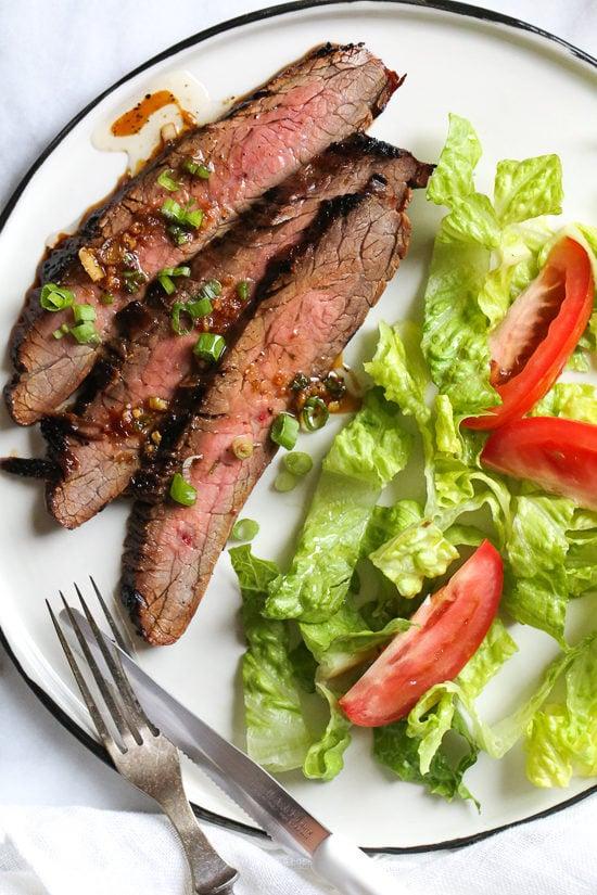 Soy Marinated Flank Steak Skinnytaste
