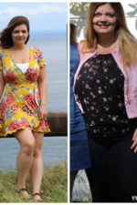 """""""Leaving a toxic relationship and in a new healthy one, I needed to finally do something for myself."""" Justine lost 65 pounds with the help of Weight Watchers."""