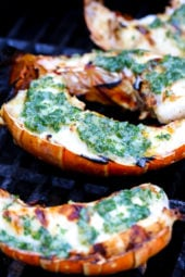 Grilled Lobster Tails topped with Herb Garlic Butter are a delicious delicacy, and grilling them is super quick and easy!