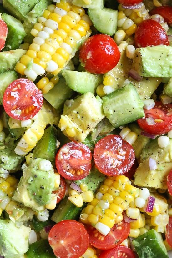 Zesty chicken and avocado salad