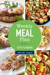 A free 7-day flexible meal plan including breakfast, lunch and dinner and a shopping list. All recipes include calories and Weight Watchers Freestyle™ SmartPoints®.