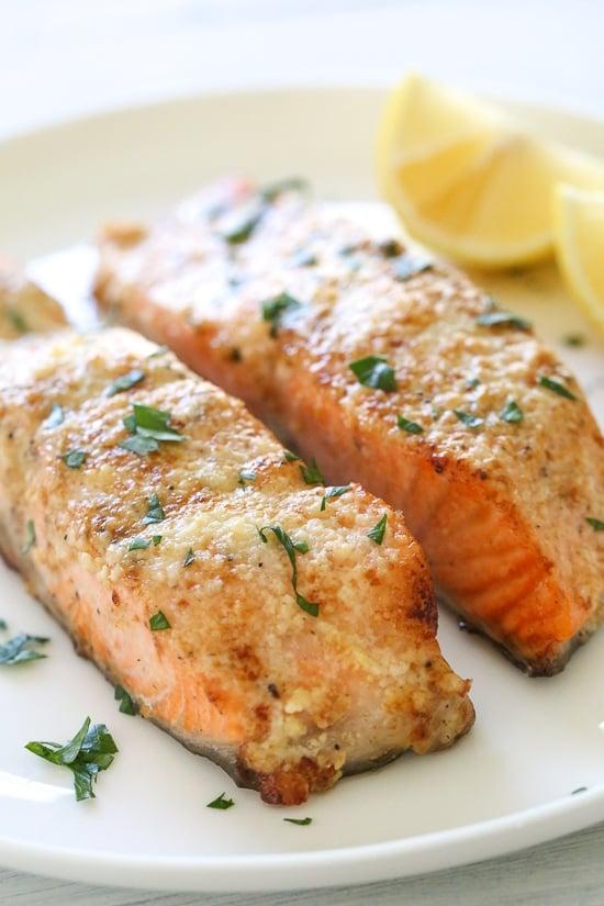 Air Fryer Parmesan Salmon