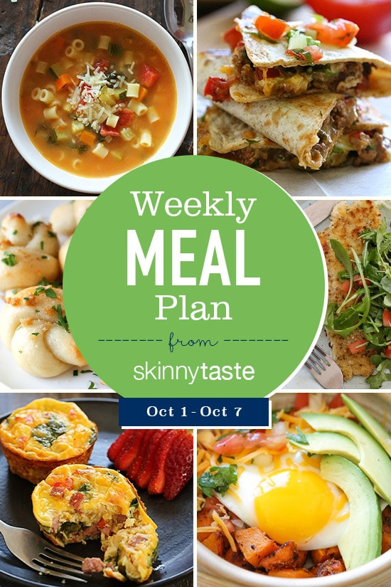 skinnytaste meal plan october 1 october 7 skinnytaste