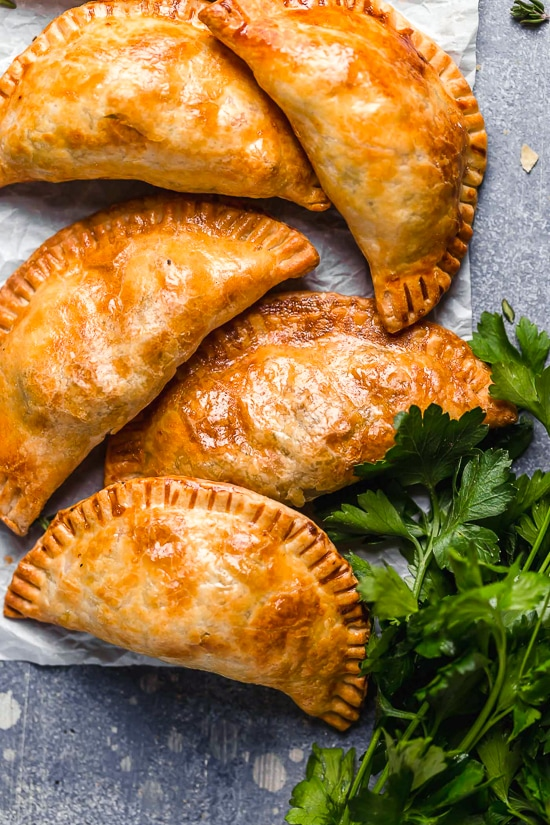 These Leftover Turkey Pot Pie Empanadas, or hand pies are a delicious way to use up your leftover Thanksgiving turkey!