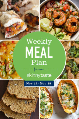Skinnytaste Meal Plan (November 12-November 18)