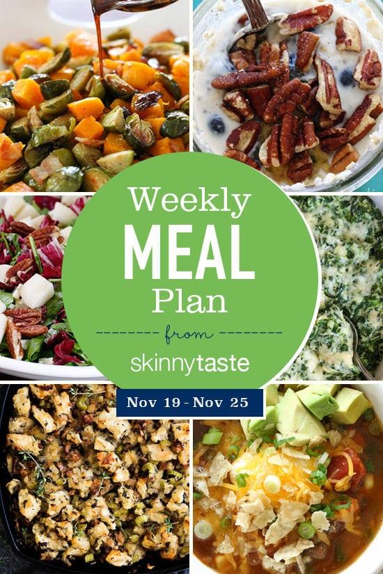Skinnytaste Meal Plan (November 19-November 25)
