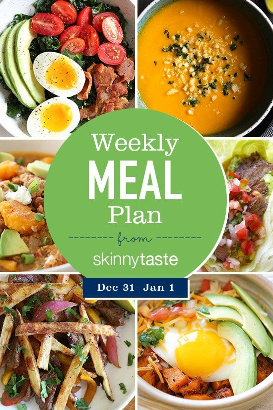 Skinnytaste Meal Plan December 31 January 6