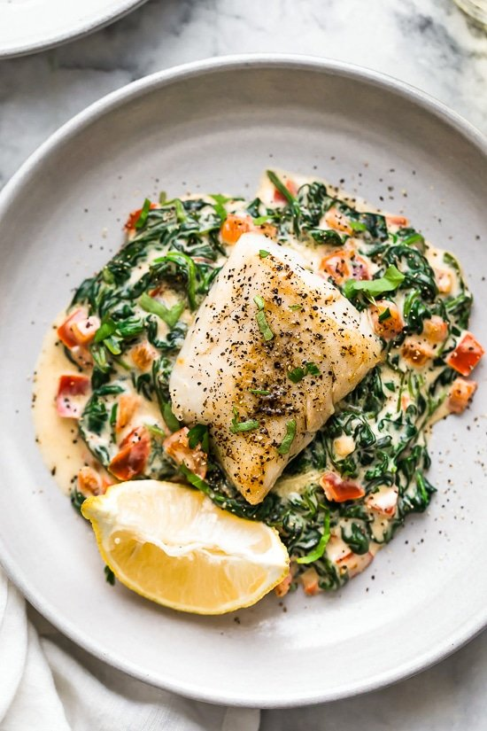 Fish Florentine The Best Fish Recipe Skinnytaste