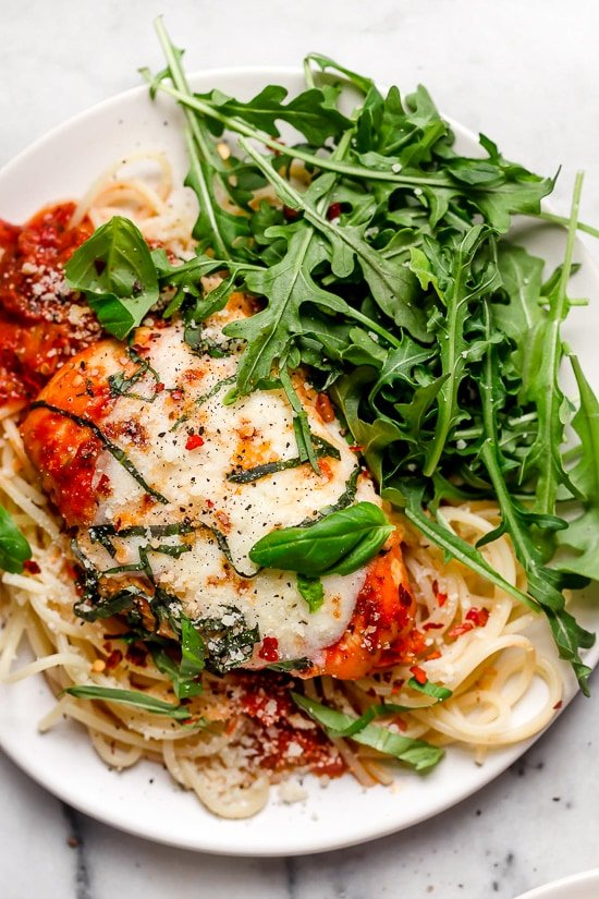 This quick and easy Chicken Parmesan is the answer to your weeknight dreams!! And since it's made in the Instant Pot, it's ready in minutes!