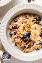 A warm and heart healthy breakfast, making Steel Cut Oats in the Instant Pot is so much faster than making them on the stove!