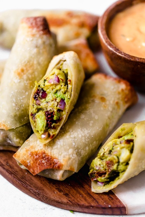 These easy Air Fryer Avocado Egg Rolls are inspired by the Cheesecake Factory egg rolls, only healthier because they are not fried.