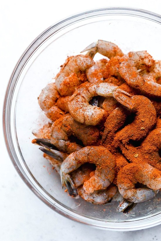Shrimp in a bowl.