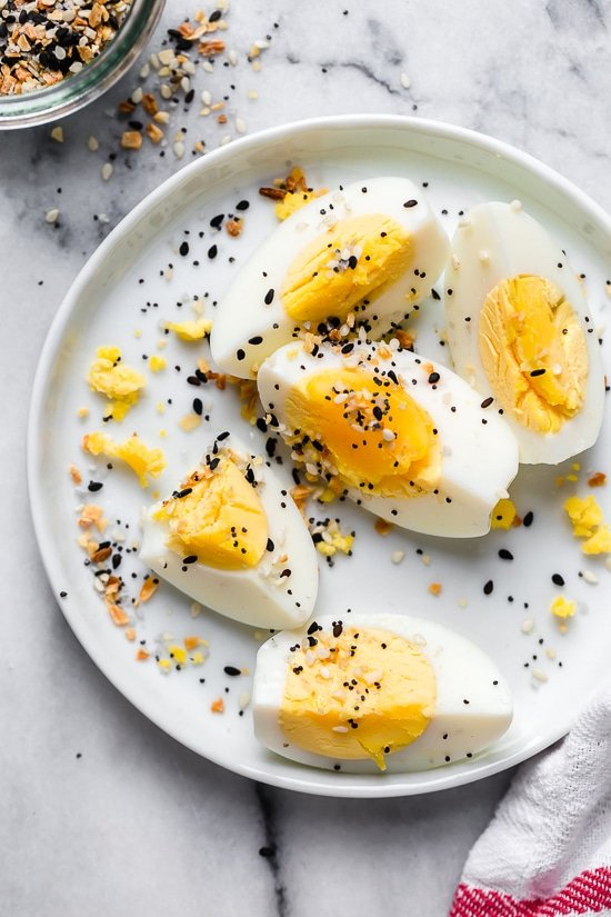 My go-to breakfast is hard boiled eggs with Everything Seasoning, so good!
