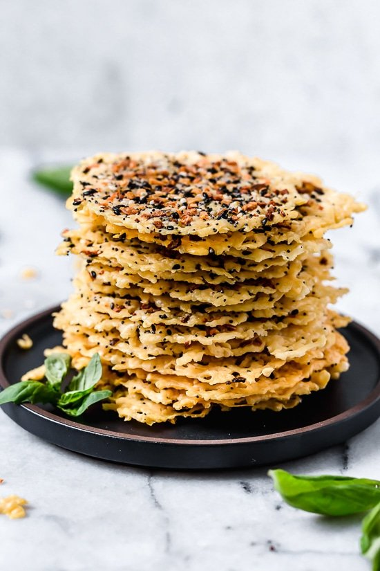 I love making these Everything Parmesan Crisps as a low-carb snack, to add to Caesar salad or a charcuterie board.