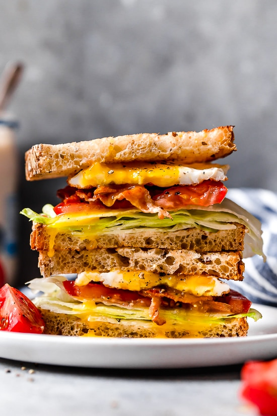 Add a fried egg or hard boiled egg to a classic BLT sandwich and you have the perfect breakfast sandwich (or have it for lunch).