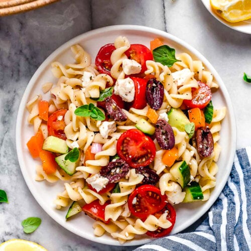 Greek Pasta Salad Skinnytaste
