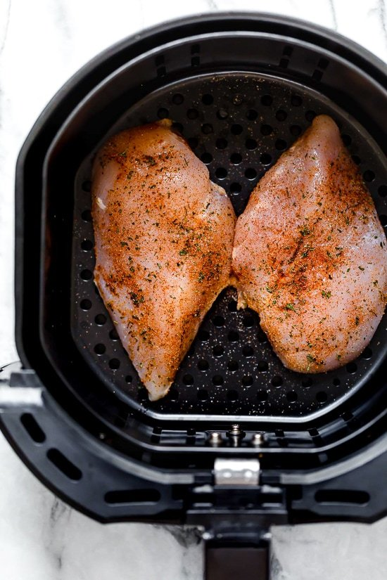 Juicy Air Fryer Boneless Chicken Breasts, no breading!