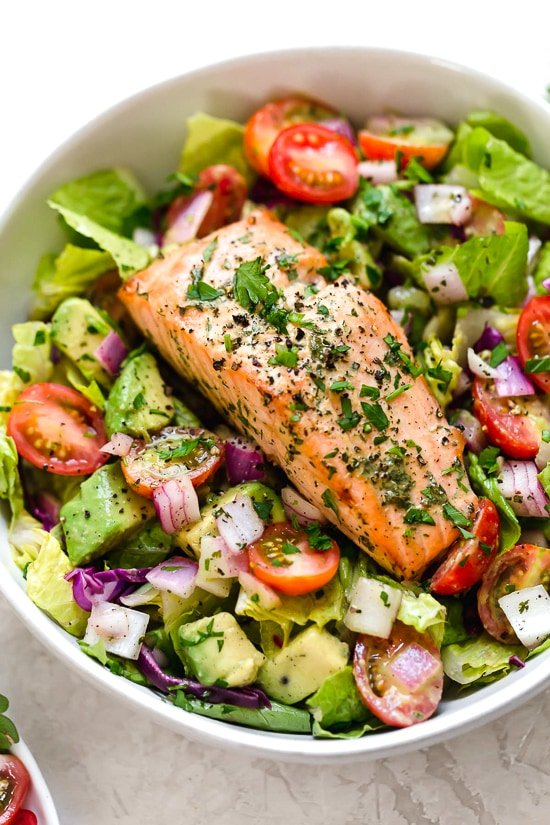 This Salmon Avocado Salad is made with my two favorite super foods – avocado and wild salmon. I could eat this every day!