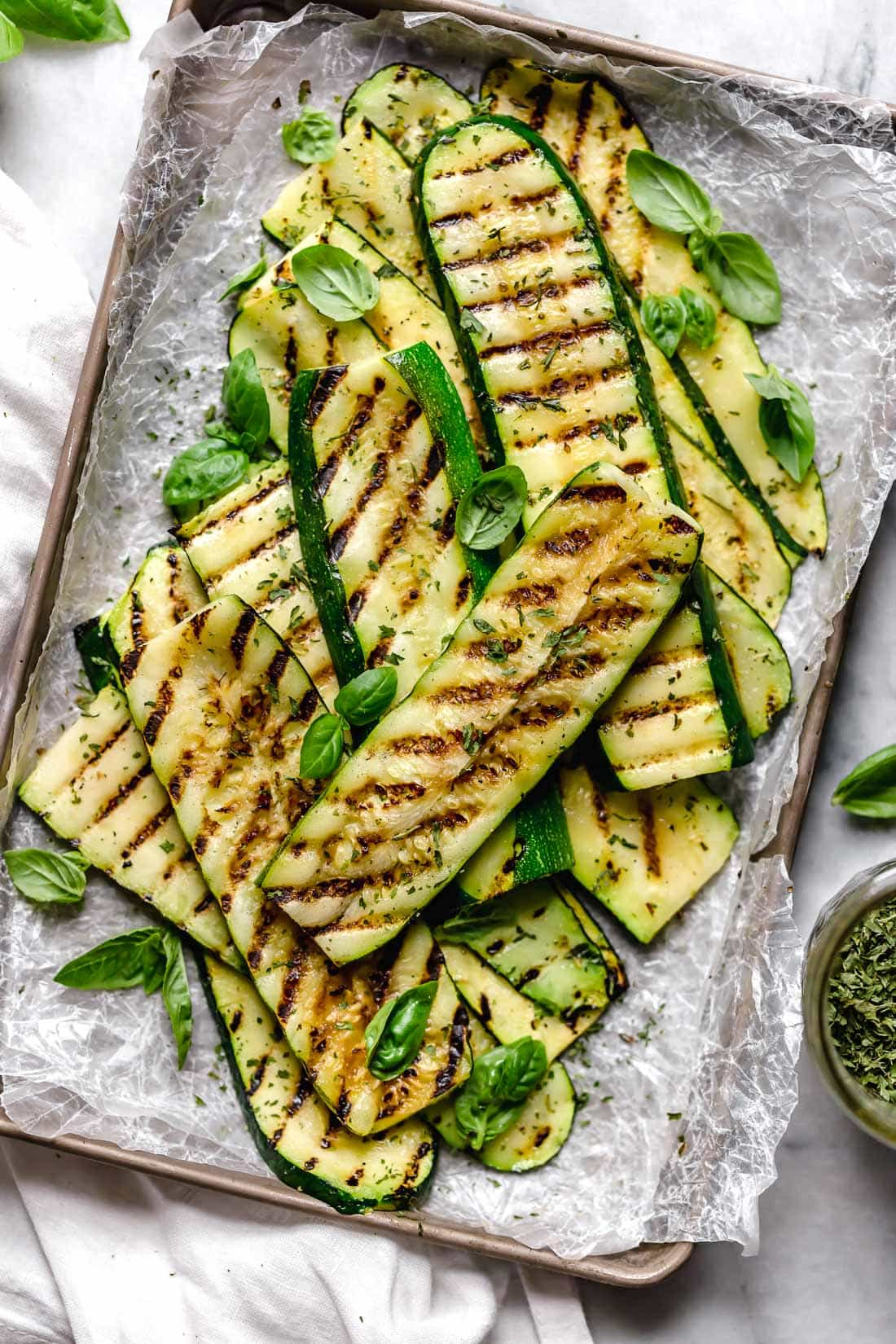 Make Perfect Grilled Zucchini all summer long! Quick and easy, great as a side dish with anything you're grilling.