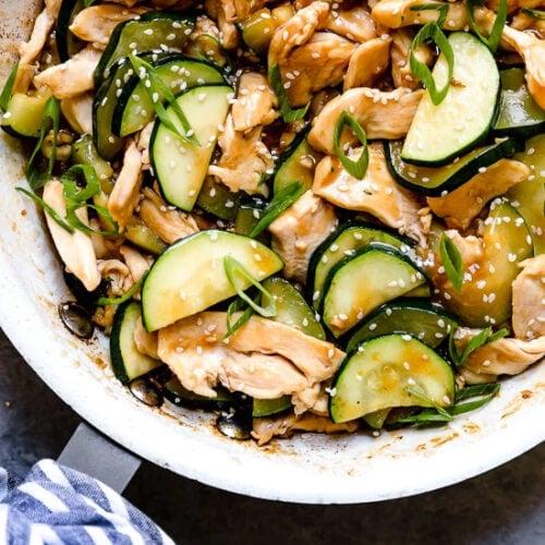 Chicken Zucchini Stir Fry