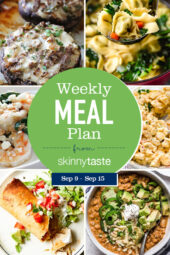 Skinnytaste Meal Plan (September 9-September 15)