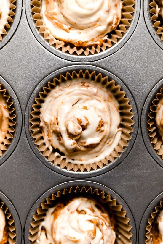 Pumpkin Swirl Cream Cheese Muffins