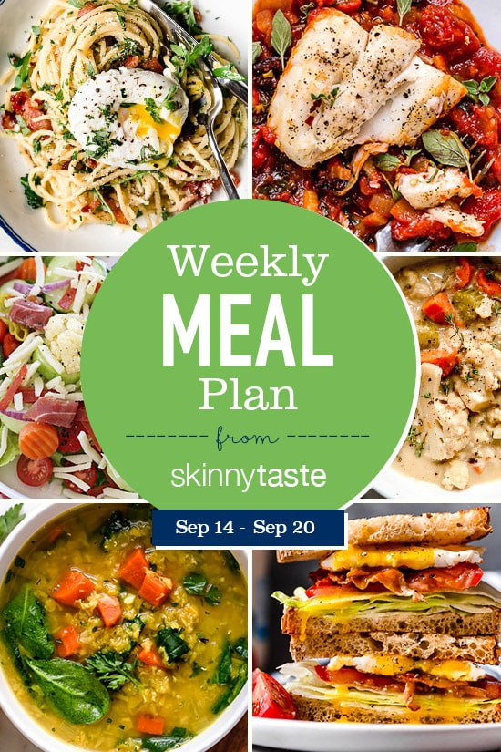 Skinnytaste Meal Plan (October 14-October 20)