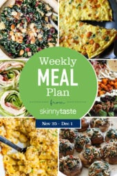 Skinnytaste Meal Plan (November 25-December 1)