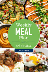 A free 7-day flexible weight loss meal plan including breakfast, lunch and dinner and a shopping list. All recipes include calories and WW Points.