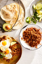 A lighter version of Mexican Chorizo made with ground turkey and a smoky spice blend, perfect for adding to eggs, tacos, and more!