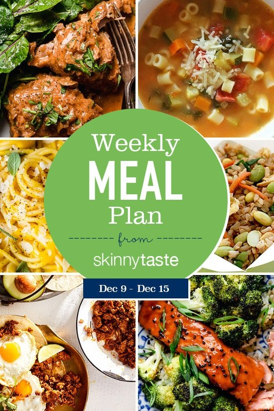 Skinnytaste Meal Plan (December 9-December 15)