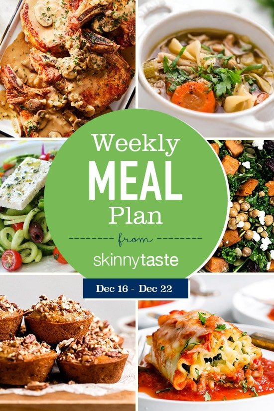 Skinnytaste Meal Plan (December 16-December 22)