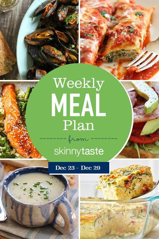 Skinnytaste Meal Plan (December 23-December 29)