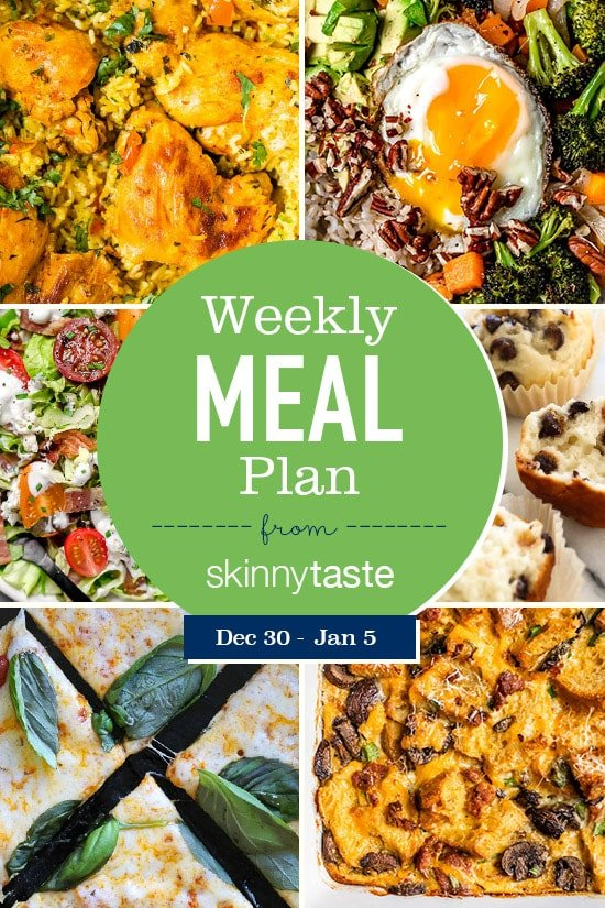 Skinnytaste Meal Plan (December 30-January 5)