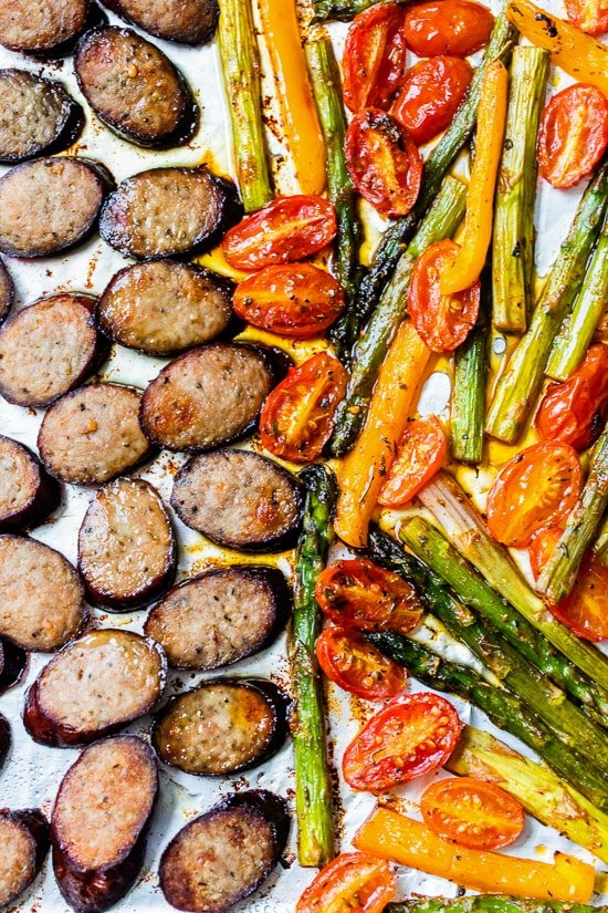 Kielbasa Veggie Sheet Pan Dinner