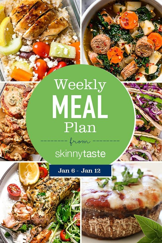Skinnytaste Meal Plan (January 6-January 12)