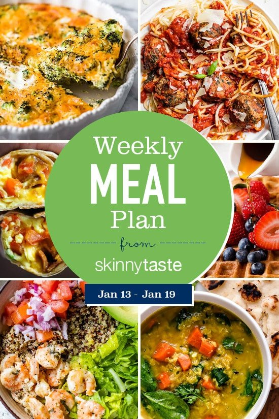 Skinnytaste Meal Plan (January 13-January 19)