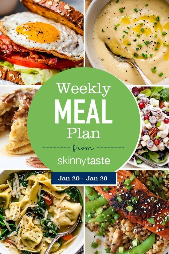Skinnytaste Meal Plan (January 20-January 26)