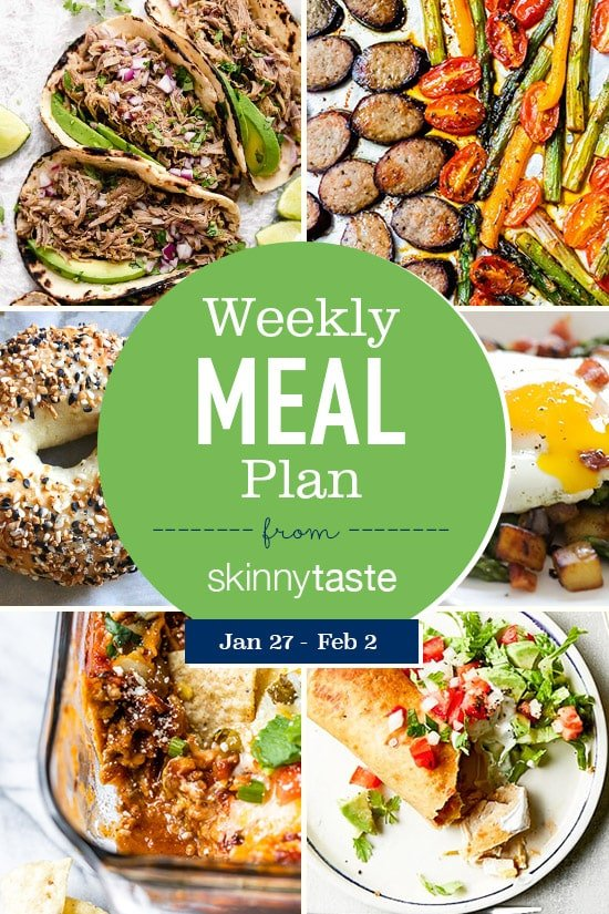 Skinnytaste Meal Plan (January 27-February 2)