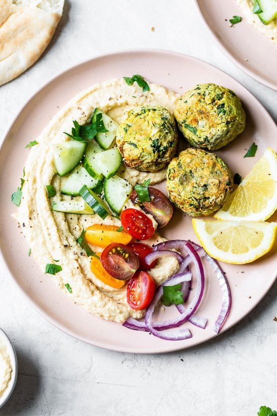 This simple falafel recipe is made faster and healthier in the air fryer with canned chickpeas - no deep-frying!
