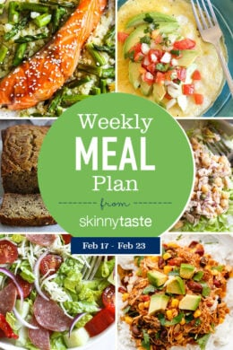 A free 7-day, flexible weight loss meal plan including breakfast, lunch and dinner and a shopping list. All recipes include calories and WW Smart Points.
