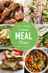 A free 14-day, flexible weight loss meal plan including breakfast, lunch and dinner and a shopping list. All recipes include calories and updated WW Smart Points.