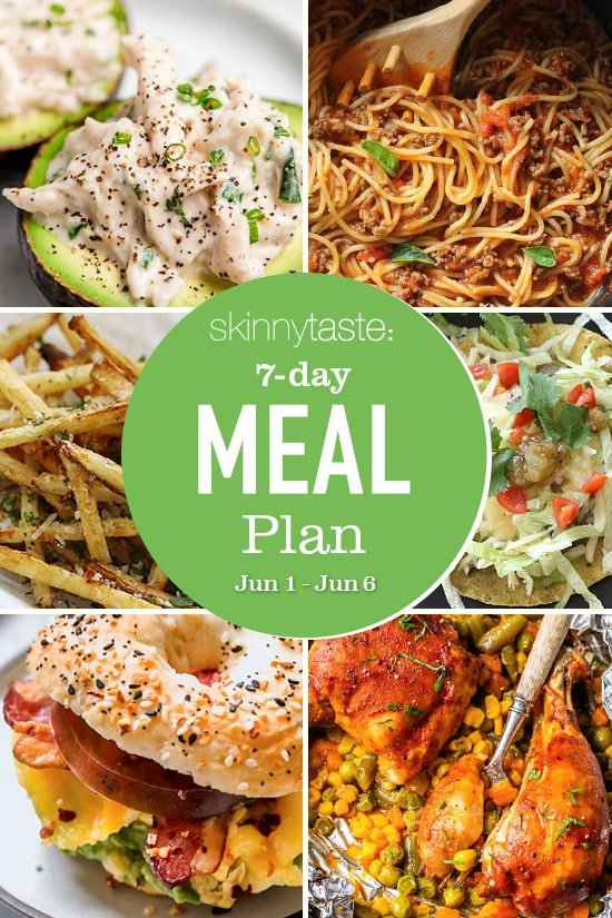Weight loss diet 7 Day Healthy Meal Plan (June 1-6) thumbnail